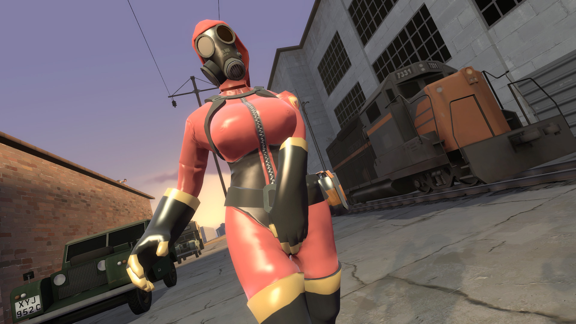Naked fem pyro with huge tits